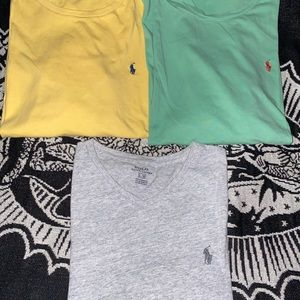 Lot Of Three Polo Ralph Lauren Colorful Large